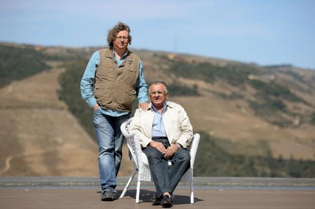 O enólogo Dirk Niepoort e o proprietário João Carlos Paes Mendonça